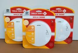 New Lot Of 3 First Alert Smoke Alarm Slim Profile Design 10