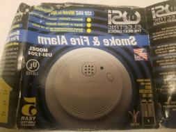 New Surplus USI 1204 Hardwired Ionization Smoke and Fire Ala