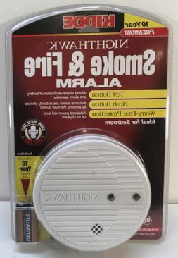 New Kidde NightHawk Battery Powered Smoke & Fire Alarm MPN: