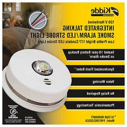 Kidde P4010ACLEDSCA integrated 120 VAC wire-in smoke alarm w