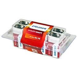 Philips Power Alkaline Battery 9V 8-Value Pack