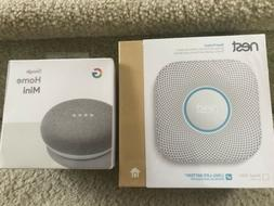 Nest Protect Smart Smoke/Carbon Monoxide Alarm + Google Home