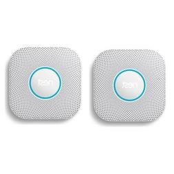 Nest 2 Pack Protect Wired Smoke and Carbon Monoxide Alarm, W