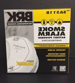 BRK SA511B Wireless Interconnect Photoelelectric Smoke Detec