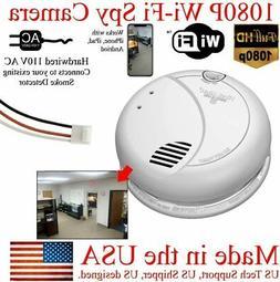 SecureGuard 1080P WiFi Smoke Detector Fire Alarm Camera, Wir