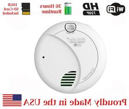SecureGuard 36 hrs Battery Powered Smoke Detector WiFi Spy C