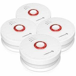 Siterlink 4 Packs Photoelectric Smoke Detector &amp Alarm, B