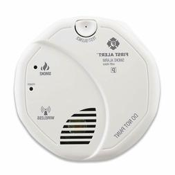First Alert Smoke Detector Alarm | Battery Powered with Wire