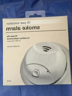 First Alert Smoke Alarm Detector 0827B  White 10 year Ioniza