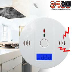 Smoke Alarm LCD CO Carbon Monoxide Smoke integrated alarm De