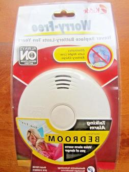 "Smoke Alarm, Kidde ""Worry Free"" talking smoke alarm Never re"