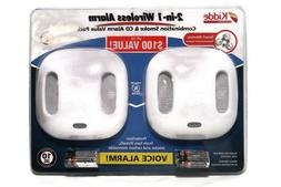 Smoke and Carbon Monoxide Detector with Wire-Free Voice Alar