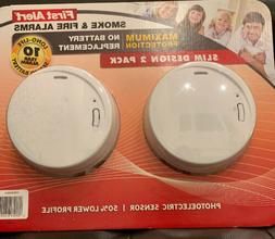First Alert Smoke & Fire Alarms 10 Year Sealed Battery Slim