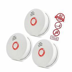 Smoke Detector,3 Packs Photoelectric Smoke Alarm Fire Alarm