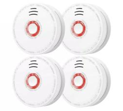Siterwell Smoke Detector and Fire Alarm 4 Pack Photoelectric