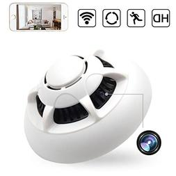 XSJQ Smoke Detector Cam,1080P WiFi Hidden Baby Monitor Motio