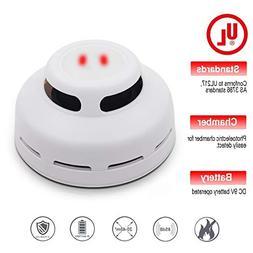 Kimitech Smoke Detector, Smoke Alarm Clock Carbon Monoxide D