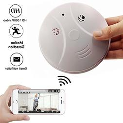 Smoke Detector Wireless IP Camera - TOTUOKEY Wi-Fi 1080P Cam
