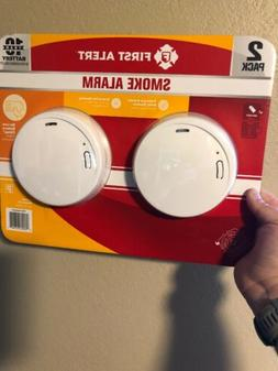 First Alert Smoke Fire Alarm Detector 10-Year Battery 2-Pack