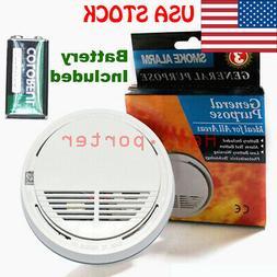 Smoke Fire Alarm Detector 80dB Sensor Battery Powered Home S