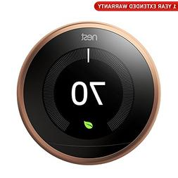 Nest T3021US Learning Thermostat 3rd Gen  + 1 Year Extended