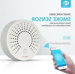 TUYA WiFi Wireless Smart Smoke Detector Security Alarm Syste