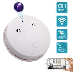 DareTang Updated WiFi Smoke Detector Hidden Camera,1080P Ind