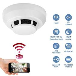 Wi-Fi 1080P Hidden Smoke Detector Camera Night Vision Motion