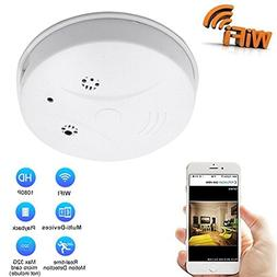 DVR Wi-Fi Smoke Detector Camera Motion Detection 1080P Wirel