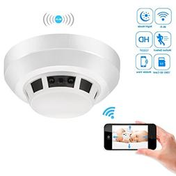 Heymoko Wi-Fi Smoke Detector Camera Motion Detection Night V