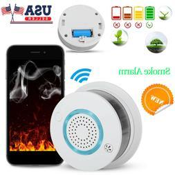 WiFi Fire Smoke Detector Wireless Voice Warning App Control