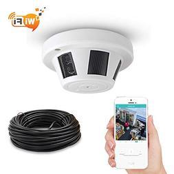 WiFi Smoke Detector Hidden Spy Camera,Night Vision 1080P Mot