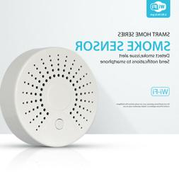 WiFi Smoke Sensor Detector Wireless Alarm 90dB 2.4GHz Safety