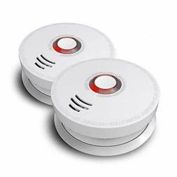 Wireless Smoke Detector, Ardwolf 2 Pack Photoelectric Fire A