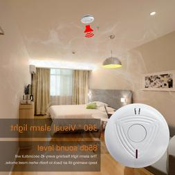 Wireless Smoke Detector Battery Operate Security Fire Alarm